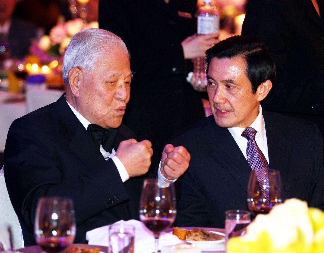 李登輝(左)、馬英九(右) 報系資料照