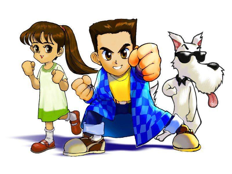 ▲遊戲角色圖,從左到右依序為善良的真夢、勇氣十足的遊戲主角樂樂、幽默搞笑的大米