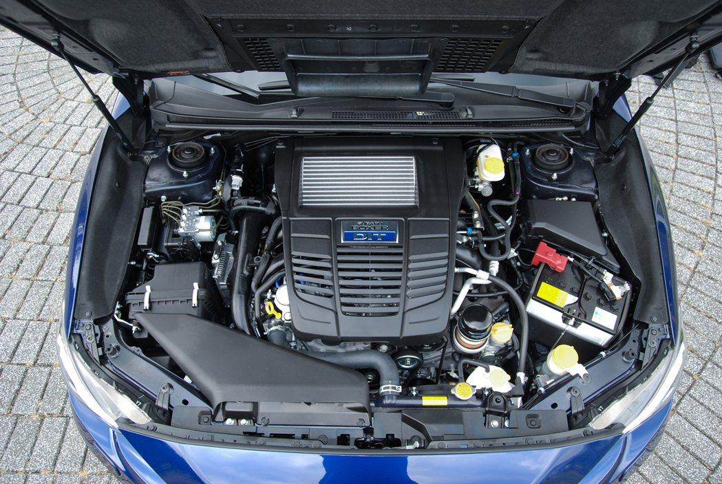 動力方面維持(FB16)1.6 升 Boxer 水平對臥四缸直噴渦輪引擎,搭配 Lineartronic CVT 無段變速箱後,最大馬力為 170 匹/25.5 公斤米, 記者林鼎智/攝影
