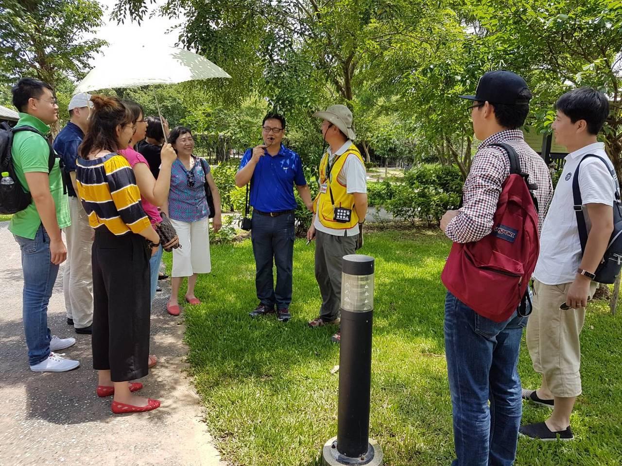 桃園市八德埤塘生態公園,目前為全桃園唯一1座有設置志工的埤塘公園。圖/八德區公所...