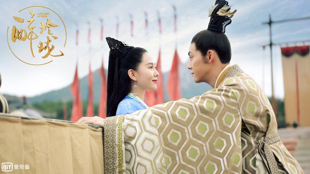 劉詩詩(左)與陳偉霆合作「醉玲瓏」。圖/愛奇藝台灣站提供