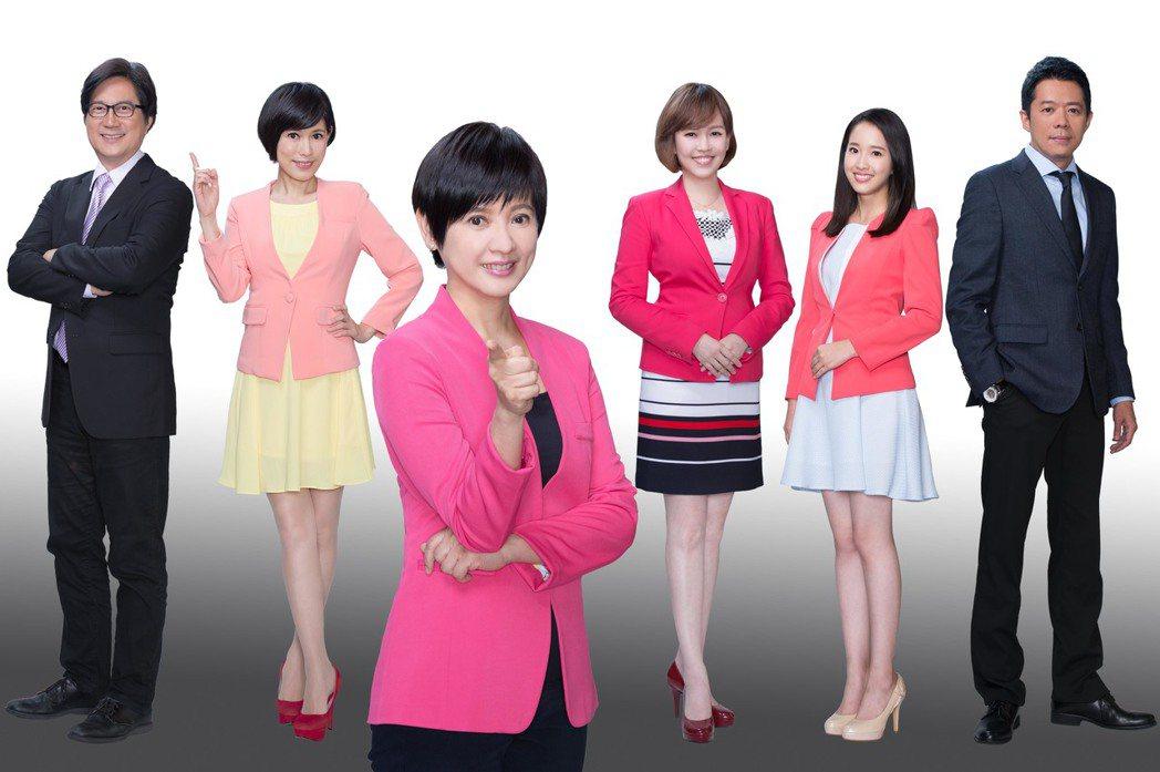 TVBS主播記者徵才,左起為楊樺、古彩彥、詹怡宜、廖芳潔、葉佳蓉、林宏宜。