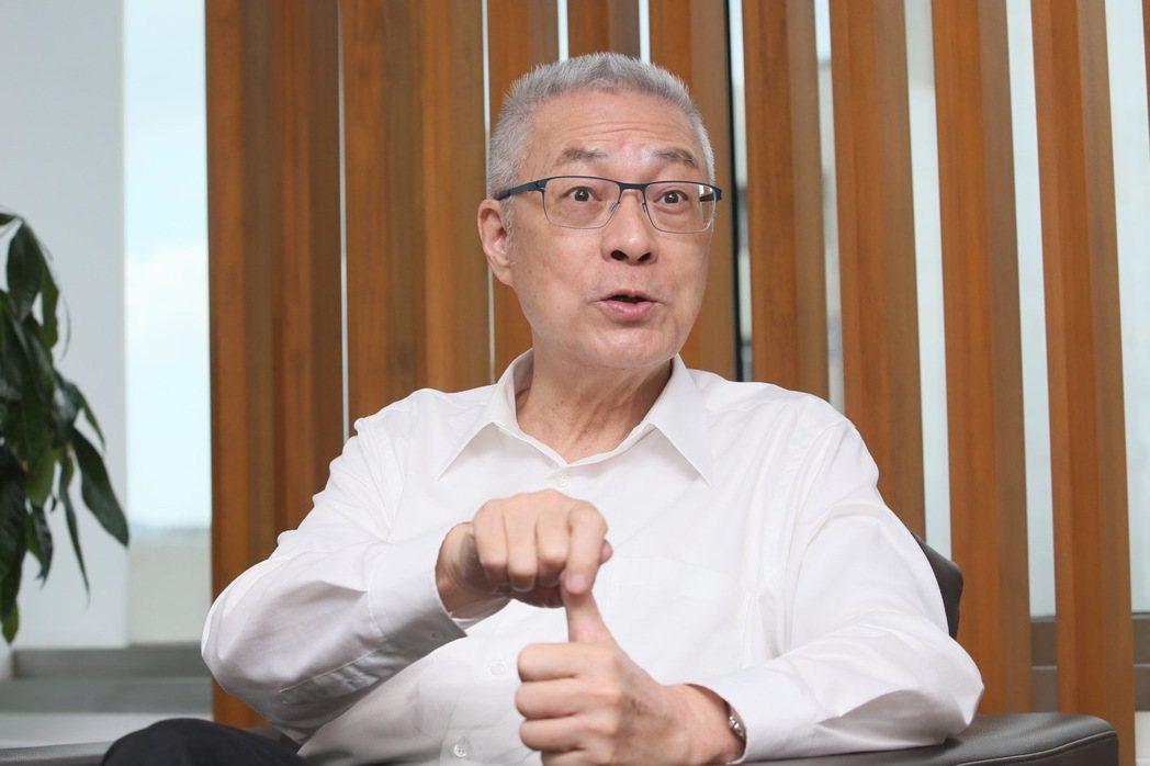 前副總統吳敦義接受本報專訪,談兩岸、在野等議題。 記者許正宏/攝影