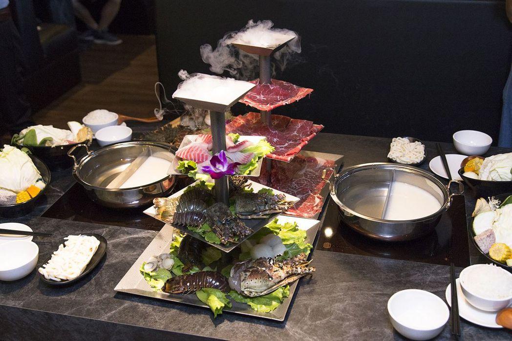 餐點-海底總動圓(貝里斯大龍蝦、波士頓龍蝦、波紋龍蝦、鯛魚、干貝、裙邊貝).