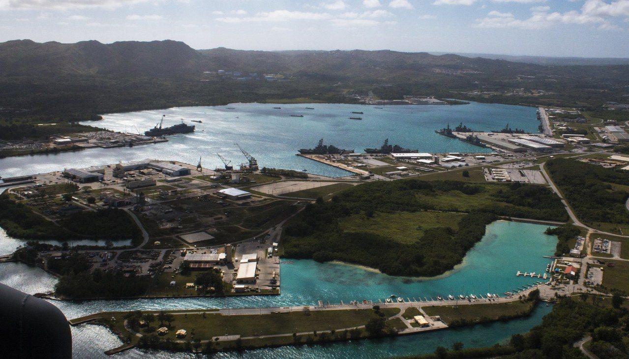 美軍位在關島的海軍基地。 歐新社