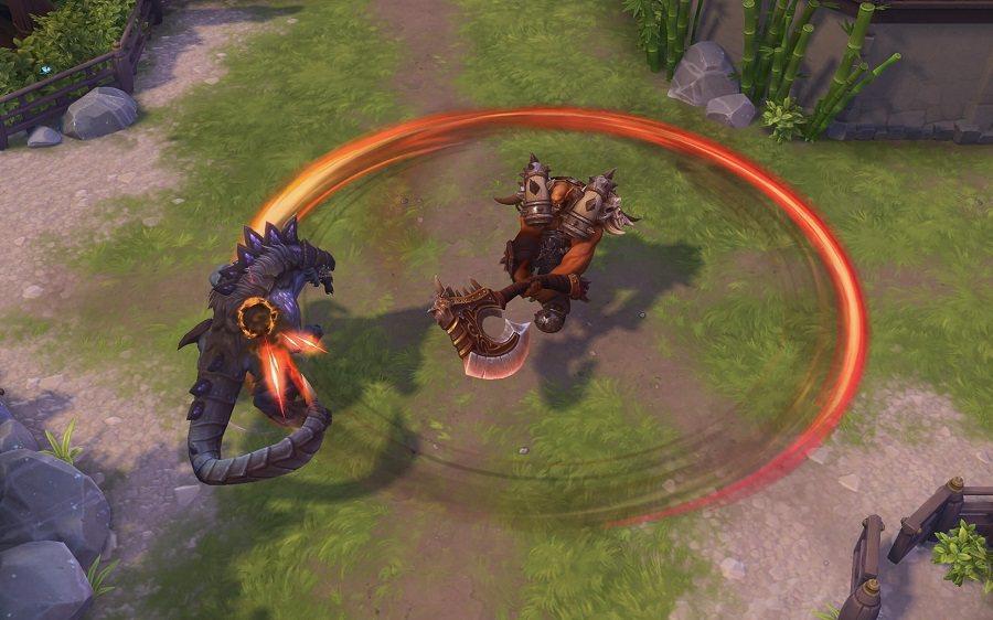 「屠殺」能對附近敵人造成傷害與緩速效果。擊中敵人將可降低技能冷卻時間。