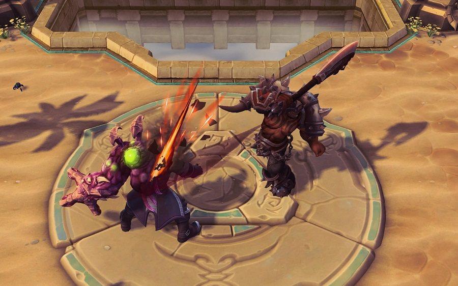 「嗜血斬」能對敵人造成傷害並恢復卡爾洛斯失去的生命值。