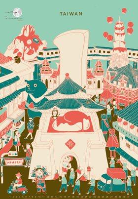 插畫設計類作品:微旅食刻。學生設計團隊:林宛萱、李宇晴、黃筱軒、黃怡蓁、林嘉榆、...