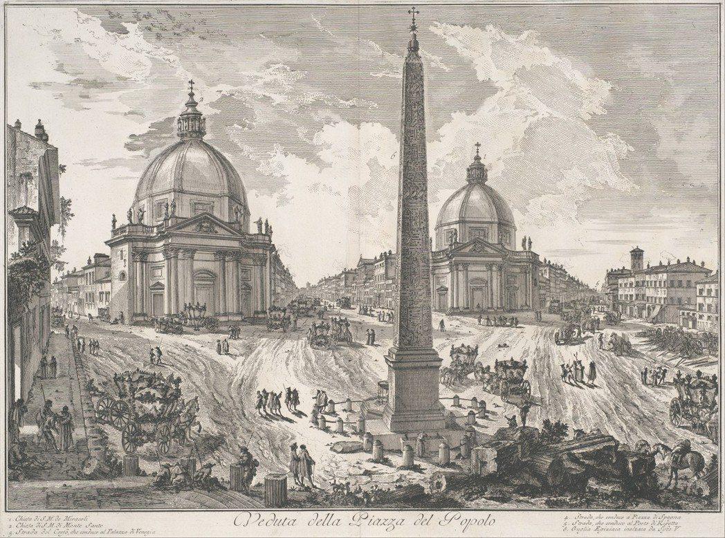庇拉內西的風格不時誇大了城市空間,雖有想像成分,卻也是奠基在真實條件之上。圖為庇...