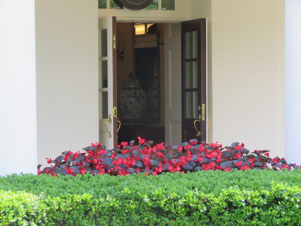 美國白宮西廂辦公室一景。記者張加/攝影