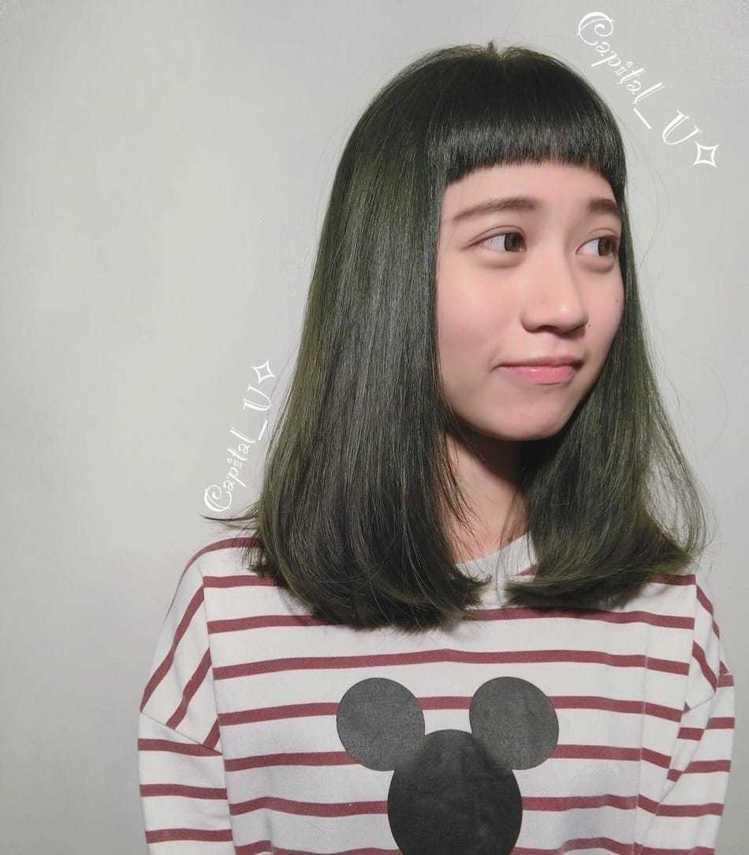 髮型創作/ 米蘭時尚髮型 南應大店 - 大寫U。圖/HairMap美髮地圖提供