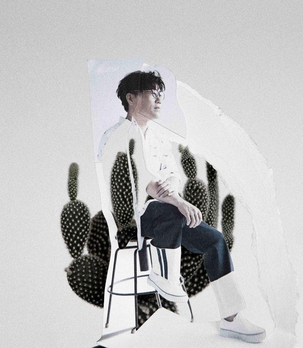 羅時豐新專輯封面被說神似韓星。圖/海蝶音樂提供