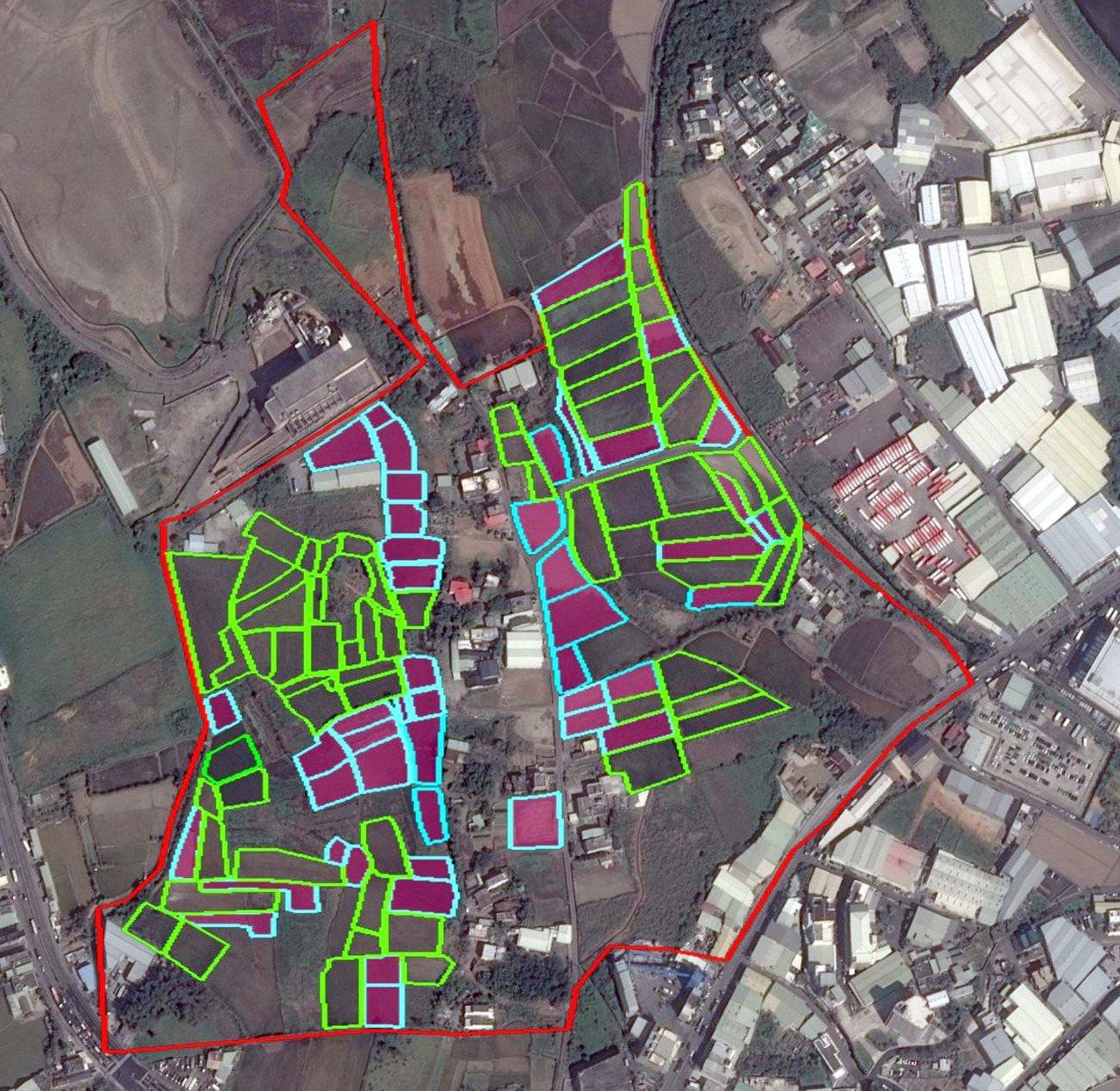 桃園市環保局公布檢驗滲眉埤上游約4.5公頃有銅汙染超標、少部分鋅超標的農田公告為...