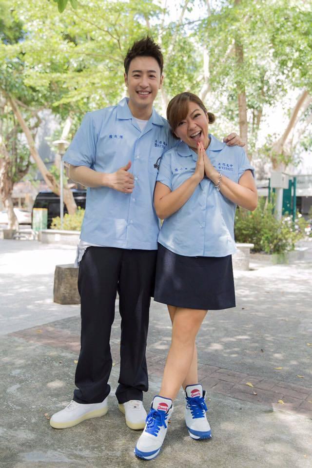 潘瑋柏(左)、杜詩梅再度穿上高中制服,引發「麻辣鮮師」戲迷關注。圖/摘自臉書