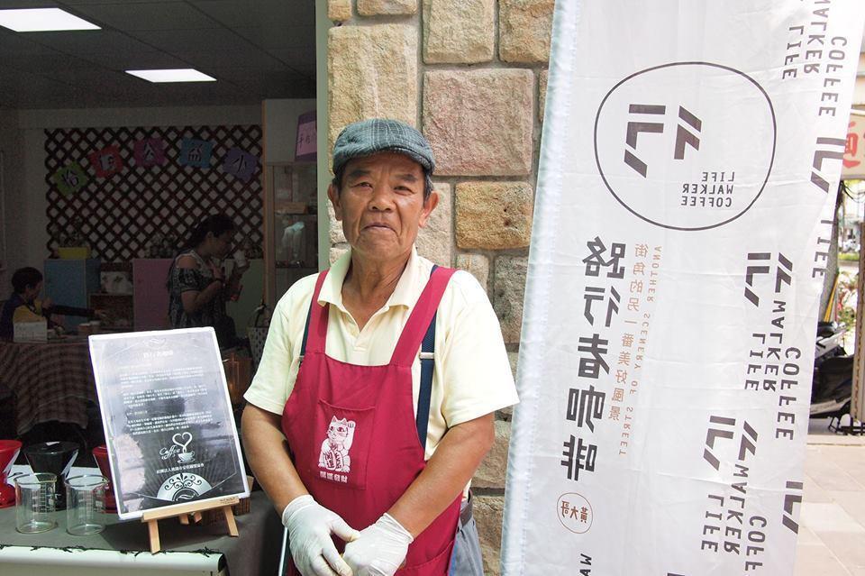 黃紫雲的路行者咖啡推出兩年多,常受邀各地擺攤。 圖/取自「路行者咖啡」臉書專頁
