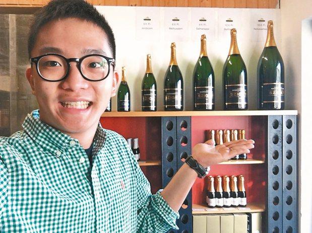 開平餐飲畢業的尹向偉至奧地利酒莊學習葡萄酒知識。 全球職涯發展協會/提供
