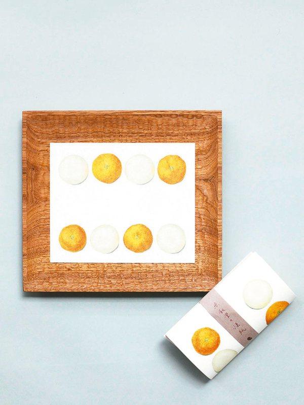 赤飯堂懷紙(橘餅)。