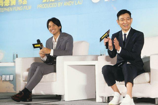 電影「俠盜聯盟」記者會宣傳,導演馮德倫、監製暨男主角劉德華、演員楊祐寧出席。