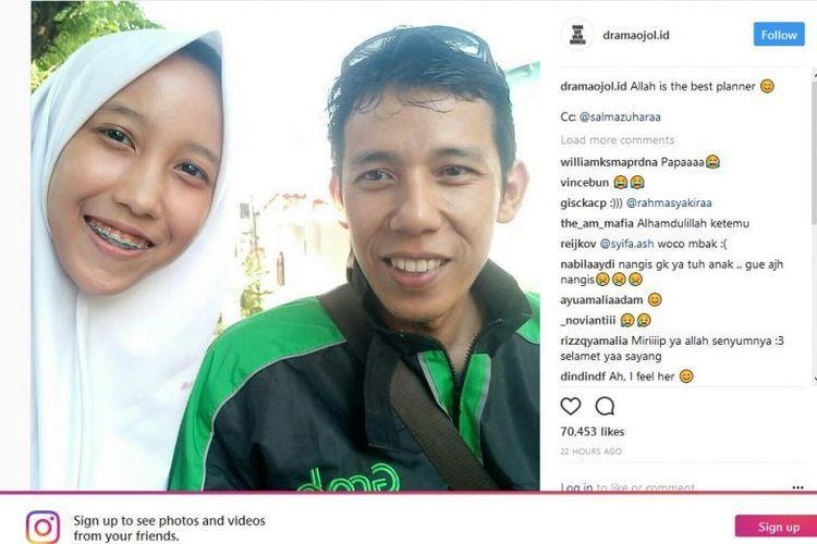 印尼17歲女孩莎爾曼下課後從網路叫車回家,沒想到司機竟然是她失聯10年的父親,讓...