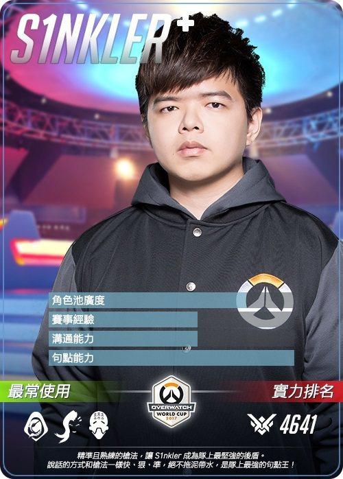 台灣代表隊選手卡 - S1nkler