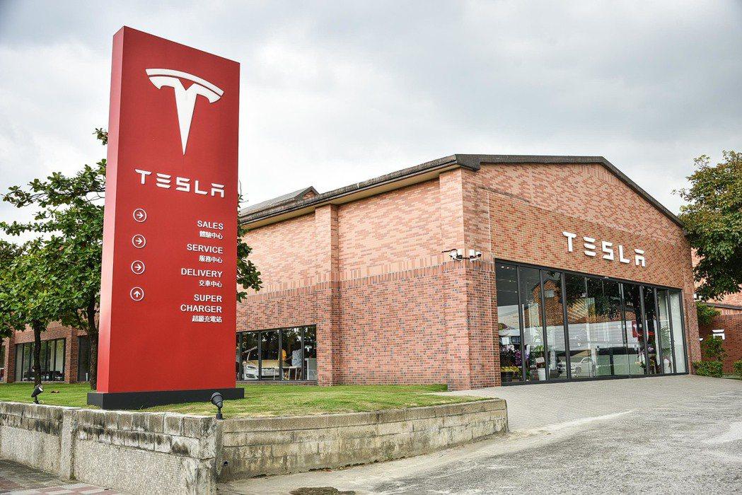 圖為 Tesla 內湖服務園區一景。 圖/Tesla提供