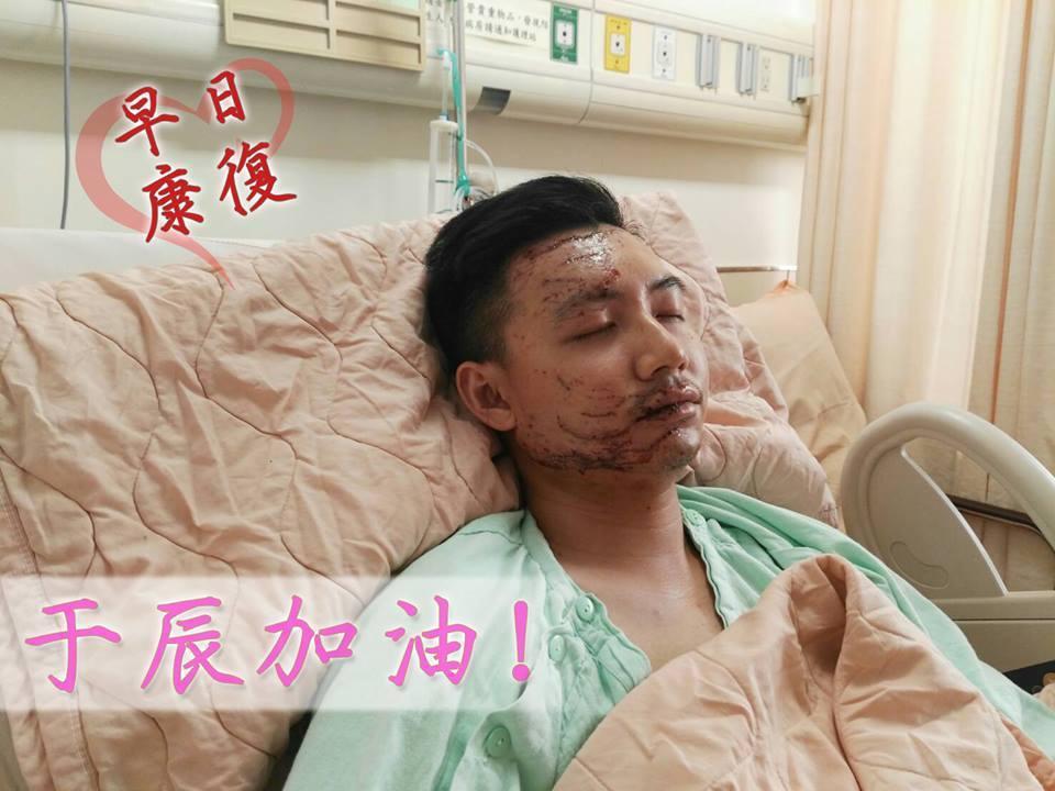 國道公路警察局在臉書PO文,因車禍重傷住院的楊于辰傷勢已穩定,楊也表示自己會堅強...