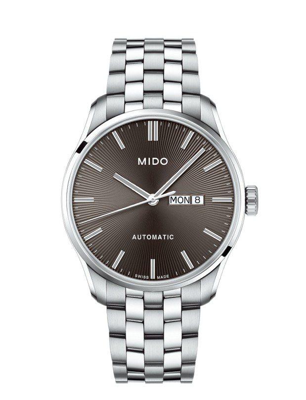 美度Belluna雋永系列銀灰色紳士腕表,搭配不鏽鋼表鍊,採用Caliber 8...