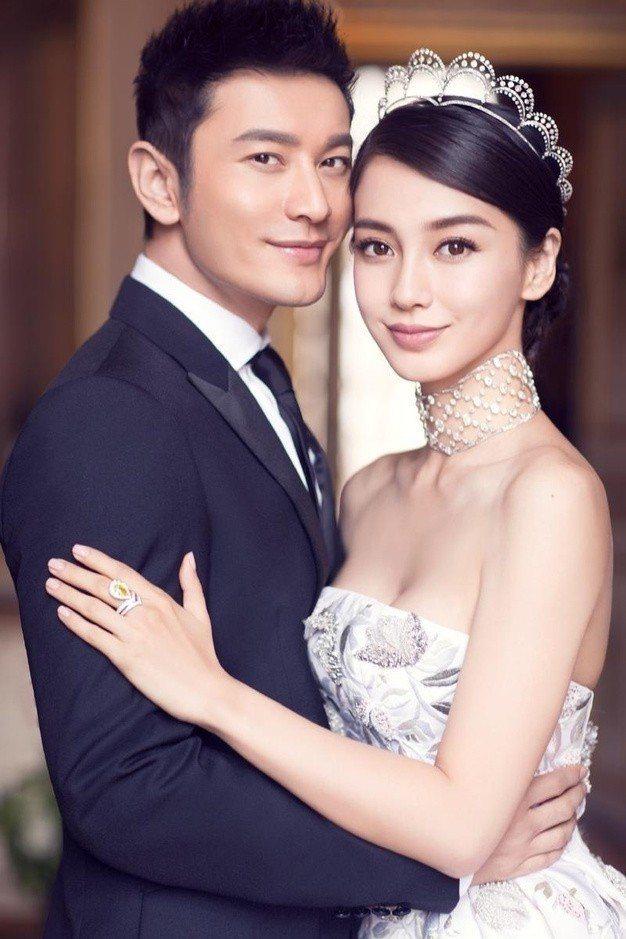 黃曉明(左)與Angelababy(右)結婚以來感情依舊甜蜜。圖/摘自微博