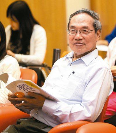 2015年九月間,陳芳明出席「星期五的月光曲」。 圖/本報資料照片
