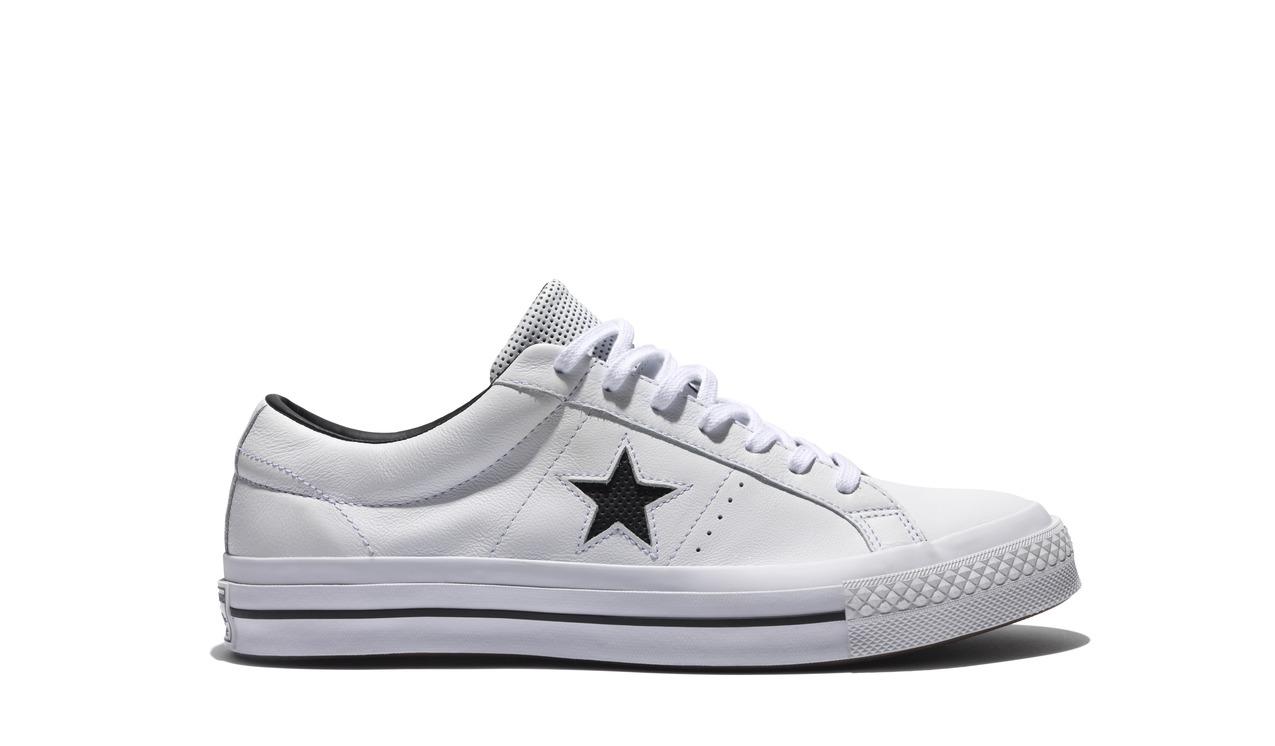 Converse One Star 白色皮革低筒鞋,NT$2,680