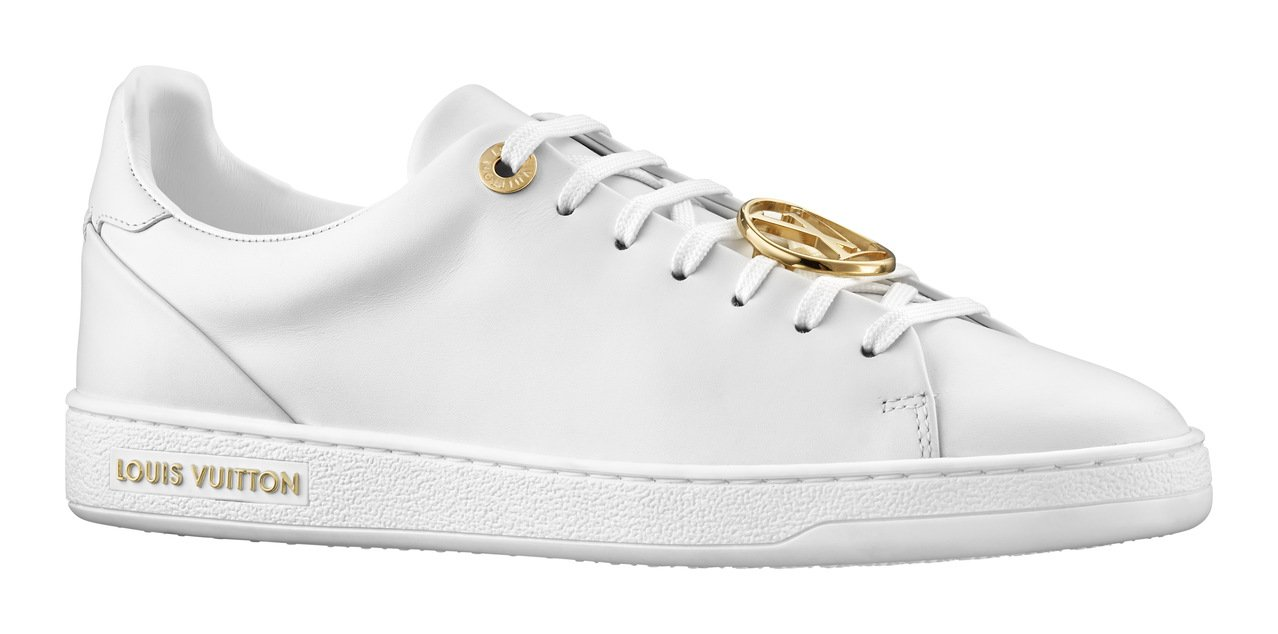 Louis Vuitton 金色logo裝飾白色休閒鞋,價格店洽