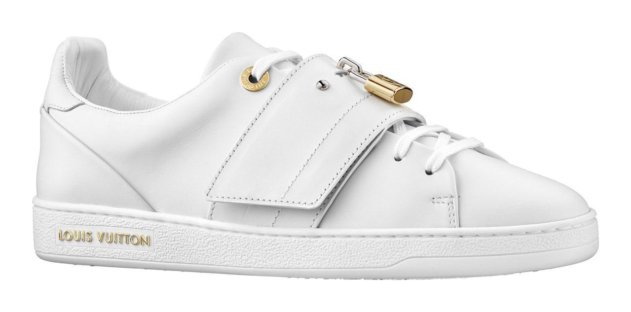 Louis Vuitton 金色鎖頭裝飾白色休閒鞋,價格店洽