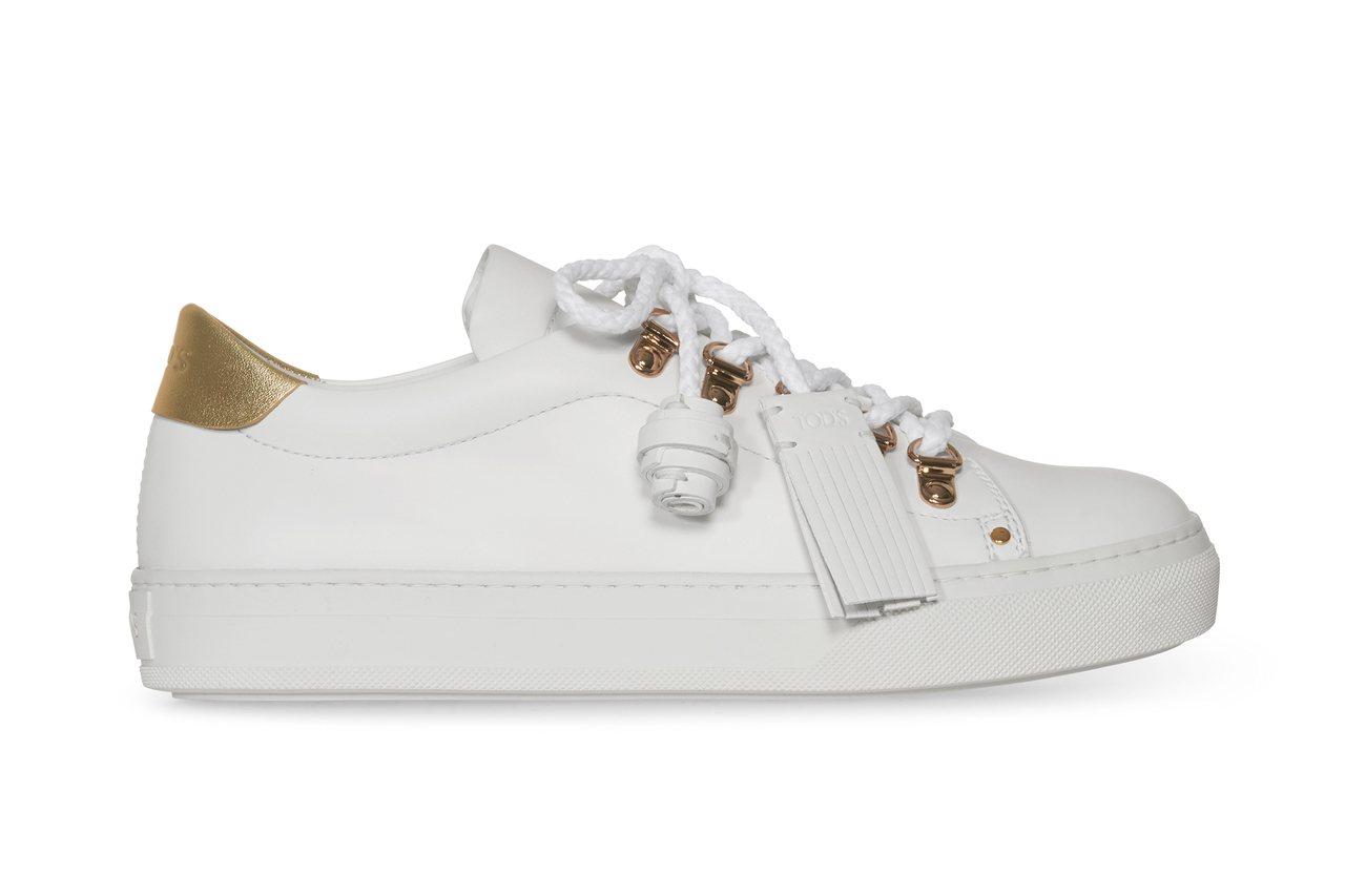 Tod's 流蘇繫帶皮革運動鞋,售價未定
