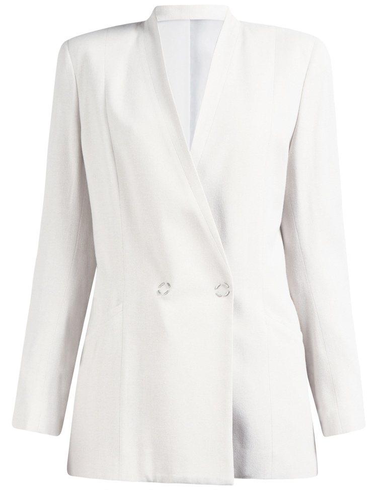 J.Lindeberg白色西裝外套,售價19,980元。圖/J.Lindeber...