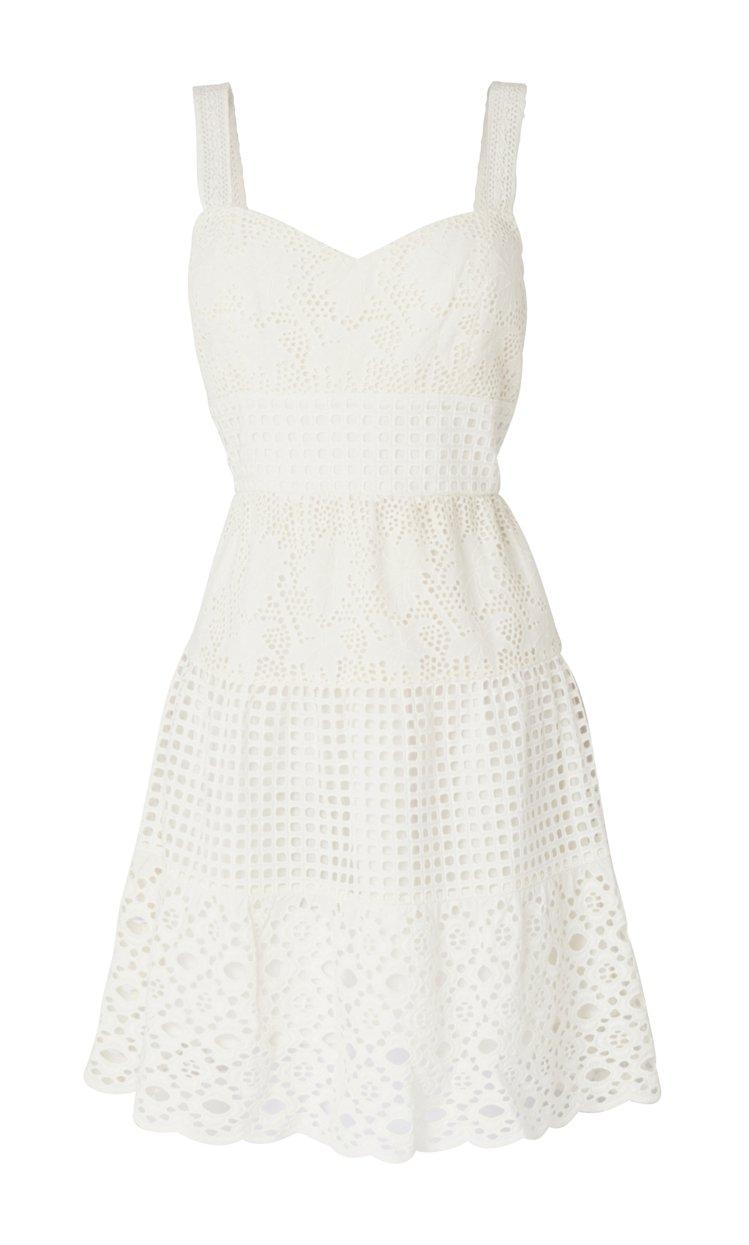 AllSaints Janey白色蕾絲洋裝,售價11,300元。圖/AllSai...
