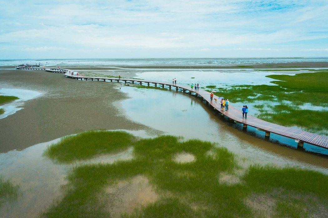 台中高美濕地獲國外網站讚譽為一生至少必遊一次的絕景,統計單月遊客量已達10萬人次...