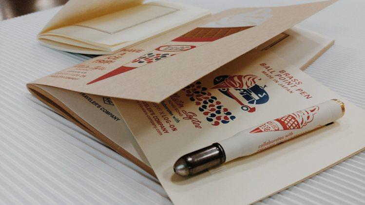 黃銅系列經典再現-原子筆富豪雪糕限定版與筆記本。