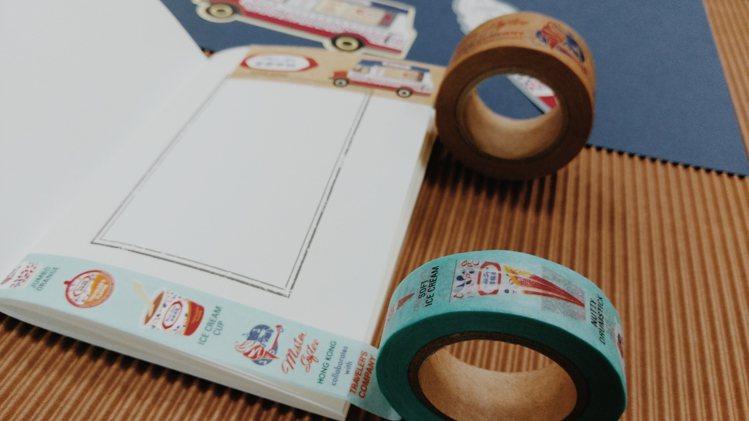 Travelers Notebook 富豪雪糕紙膠帶限定版15*10mm,240...