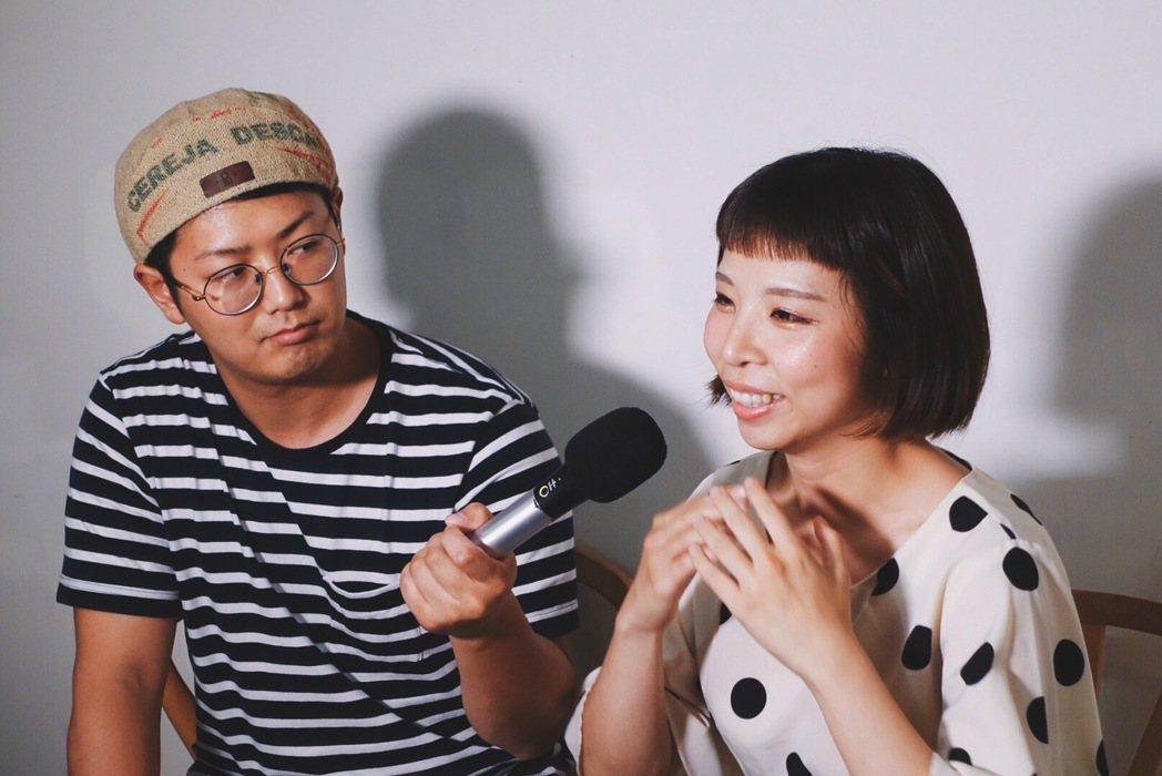 上田太太與夫婿阿桃。記者沈佩臻/攝影