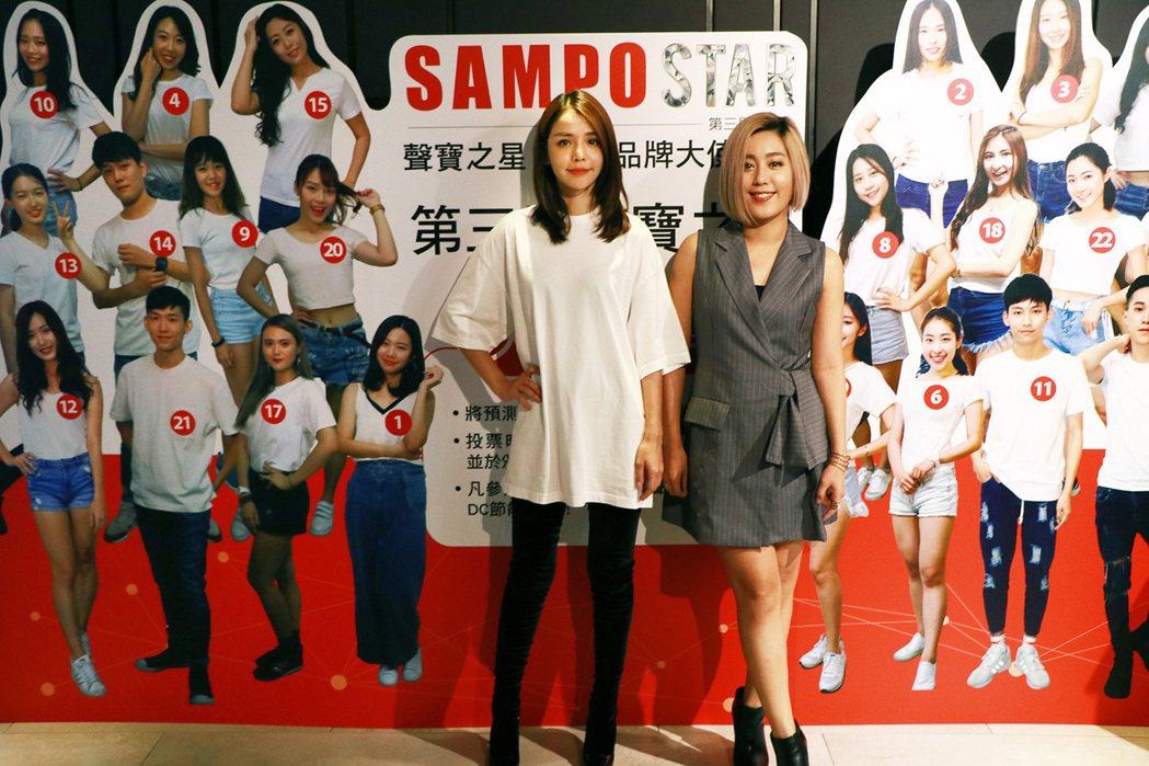 李毓芬(左)、米非擔任聲寶之星選拔評審。圖/宏將多利安提供