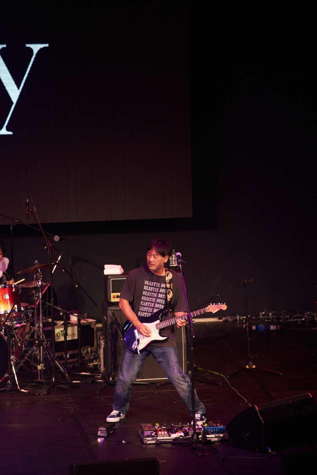 吉他手大渡亮熱愛台灣。圖/愛貝克思提供