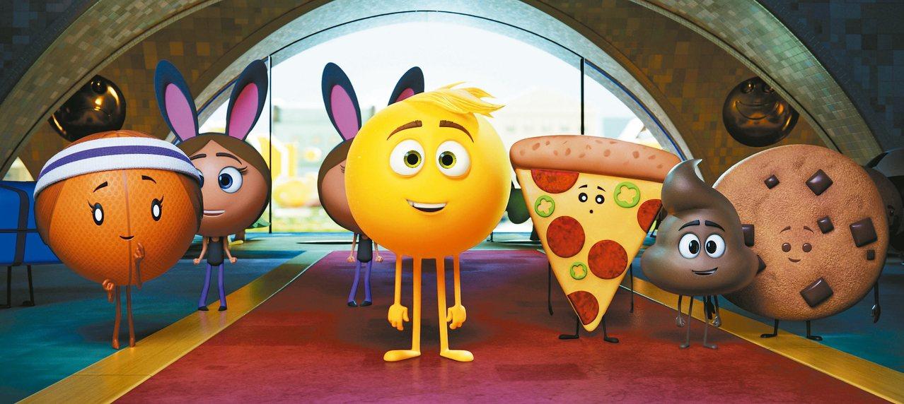 「表情符號片子」放置在暑假檔上映。 圖/索尼提供