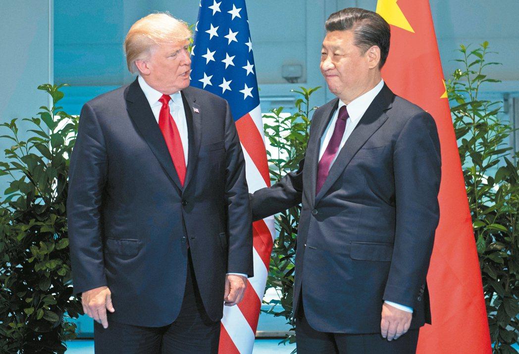 美國總統川普(左)、大陸國家主席習近平(右) 路透資料照片