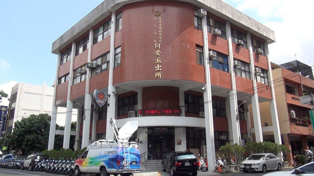 台中市第六警分局帶回涉案相關人等10人,目前正在何安派出所偵訊中。記者陳宏睿/攝...