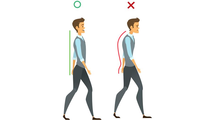 正確走路方式指的是,從人體側面來看,從上而下為耳朵最高處、肩膀、髖關節,應保持在...