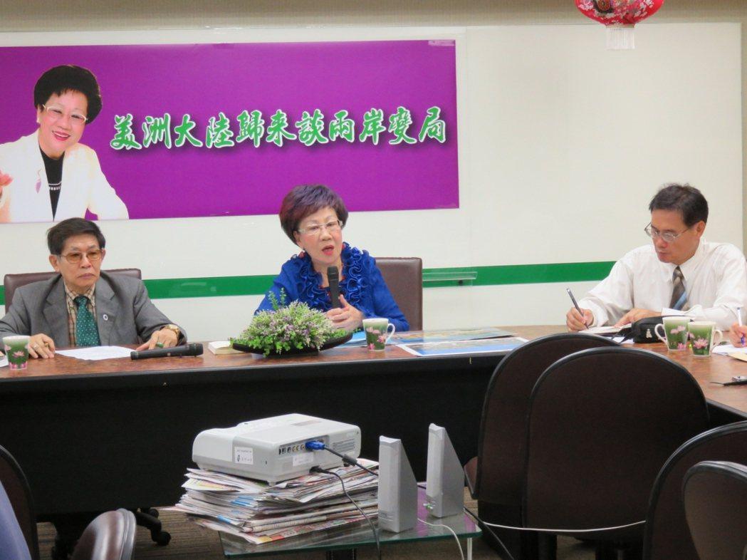 呂秀蓮2015年出訪中美洲返國,談及蔡英文競選副手問題,她堅持應該從黨內覓才。 ...