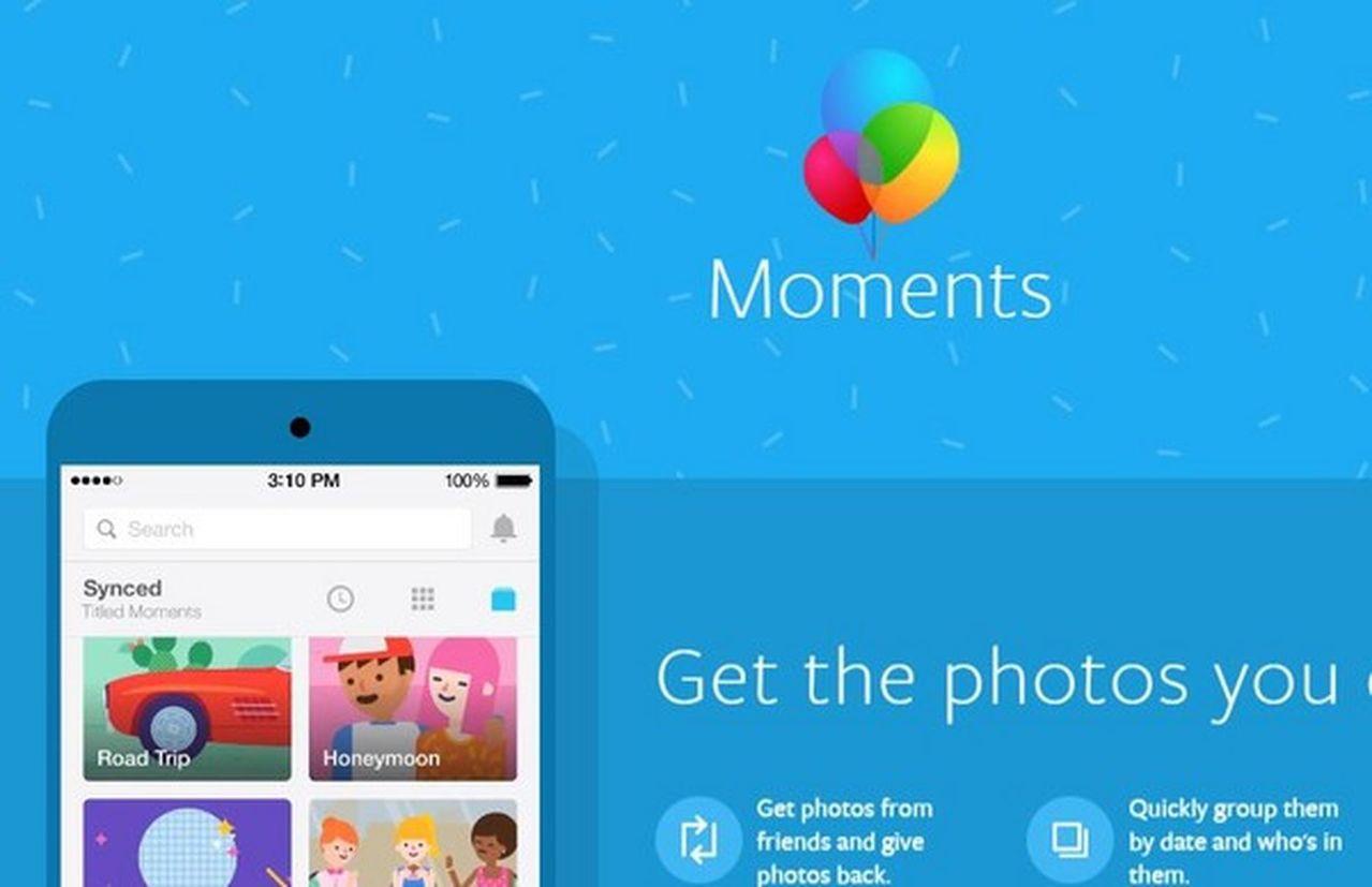 臉書偷偷在中國推App,與Moments極為相似。(翻攝自momentsapp網...