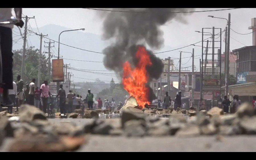 儘管各地零星衝突不斷,肯亞大選最終以總統甘耶達連任作收。(photo by 英廣...