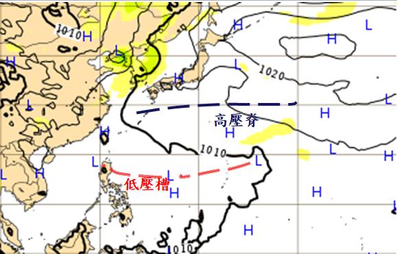 根據歐洲中期預報中心(ECMWF)模式模擬,21日20時地面圖顯示,太平洋高壓脊...