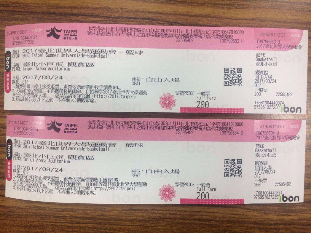 王女在拍賣網站兜售世大運黃牛票,被松山分局員警網路巡邏時查獲。記者林孟潔/翻攝